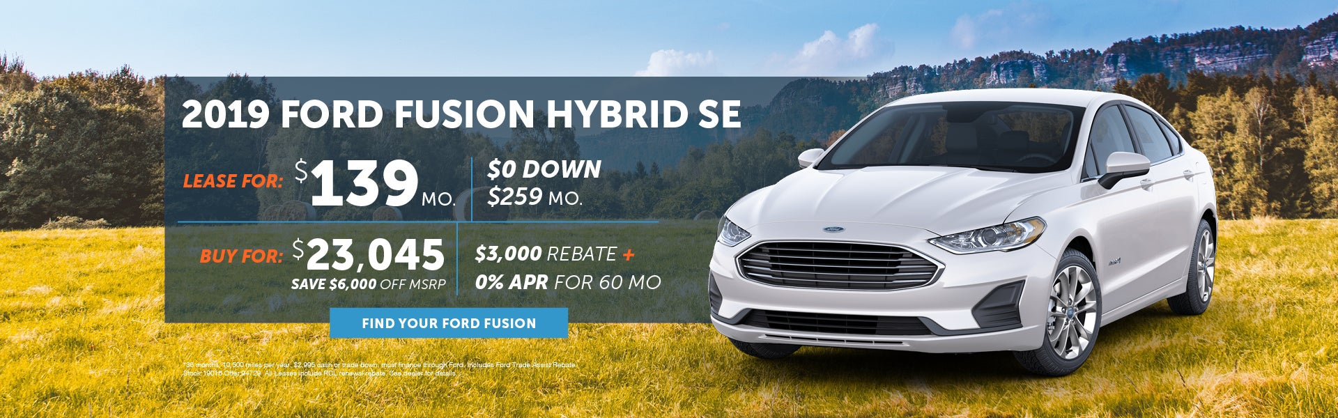 2019 Ford Fusion Hybrid Special